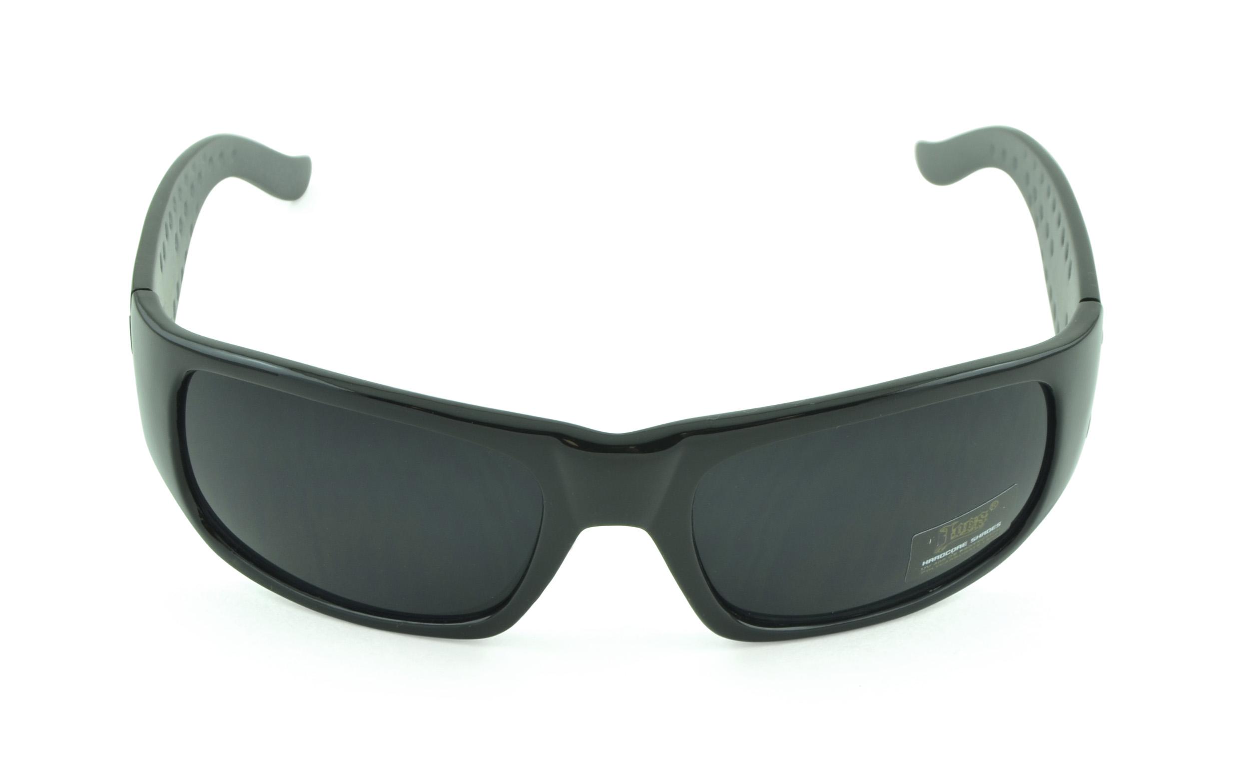 Belle Donne- Gangster Sunglass Hardcore Dark Lens Sunglasses Men Women - Gray
