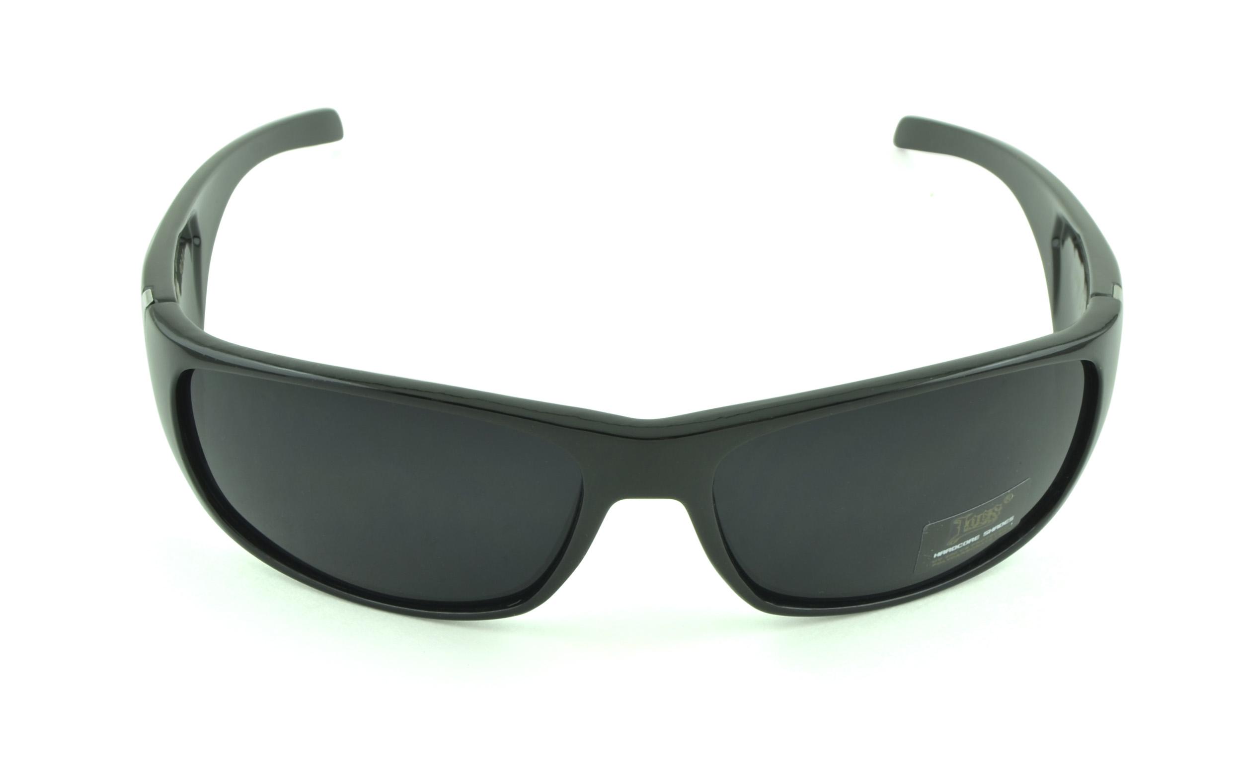Belle Donne- Gangster Sunglass Hardcore Dark Lens Sunglasses Men Women - Black