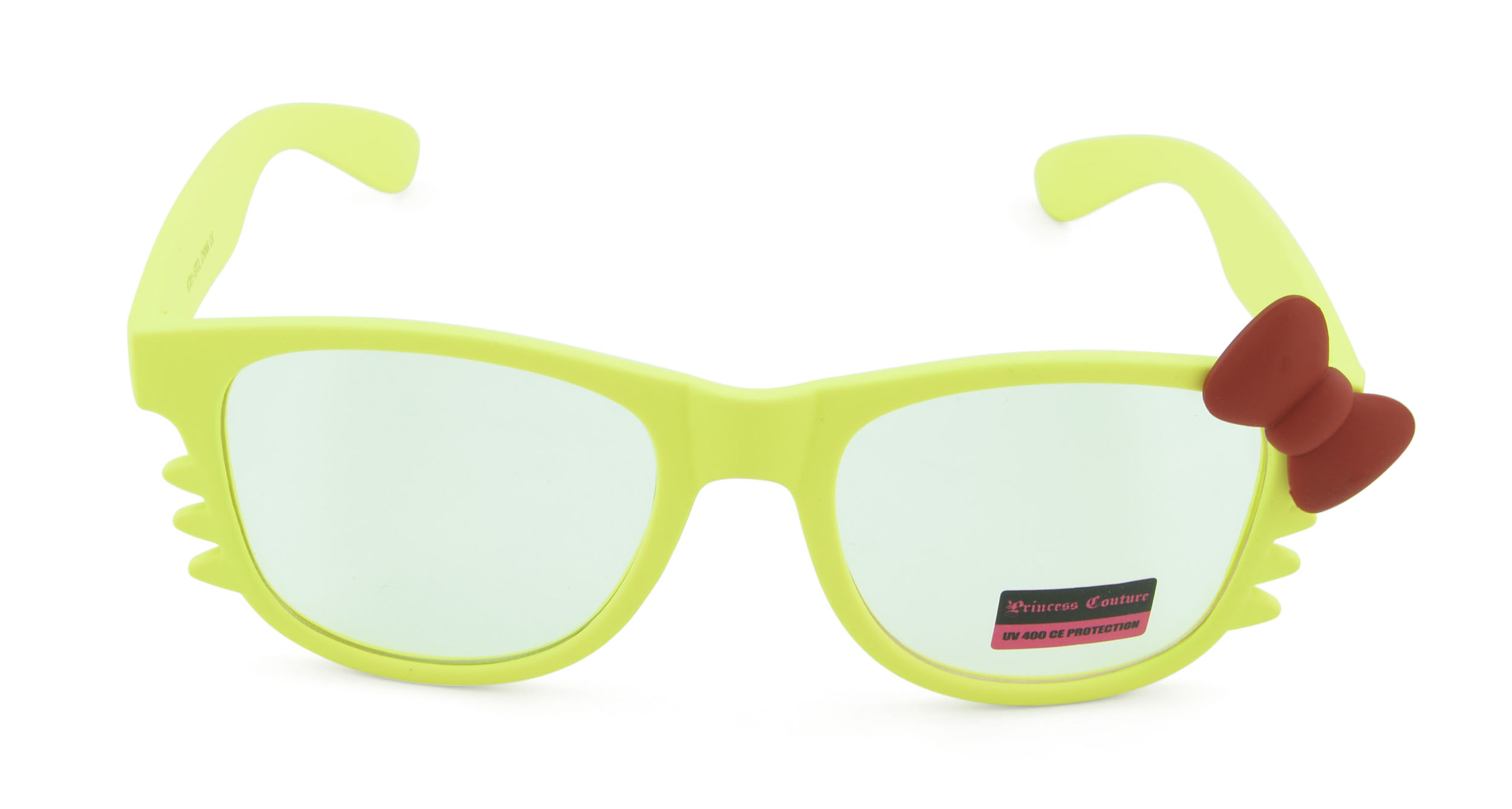 Belle Donne-Women's Kitty Style Sunglasses with Whisker or Bow Accent-Yellow