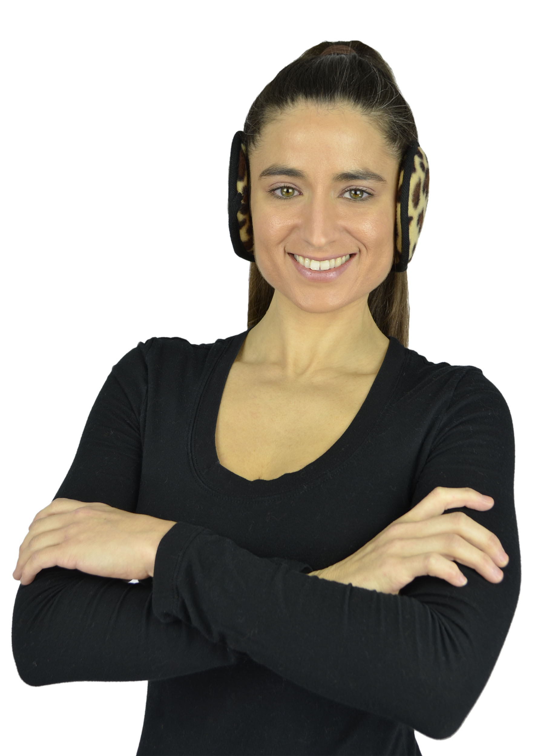 Unisex Ear Warmers - Foldable Fleece Behind the Head Polar Fleece EarMuffs - Multi