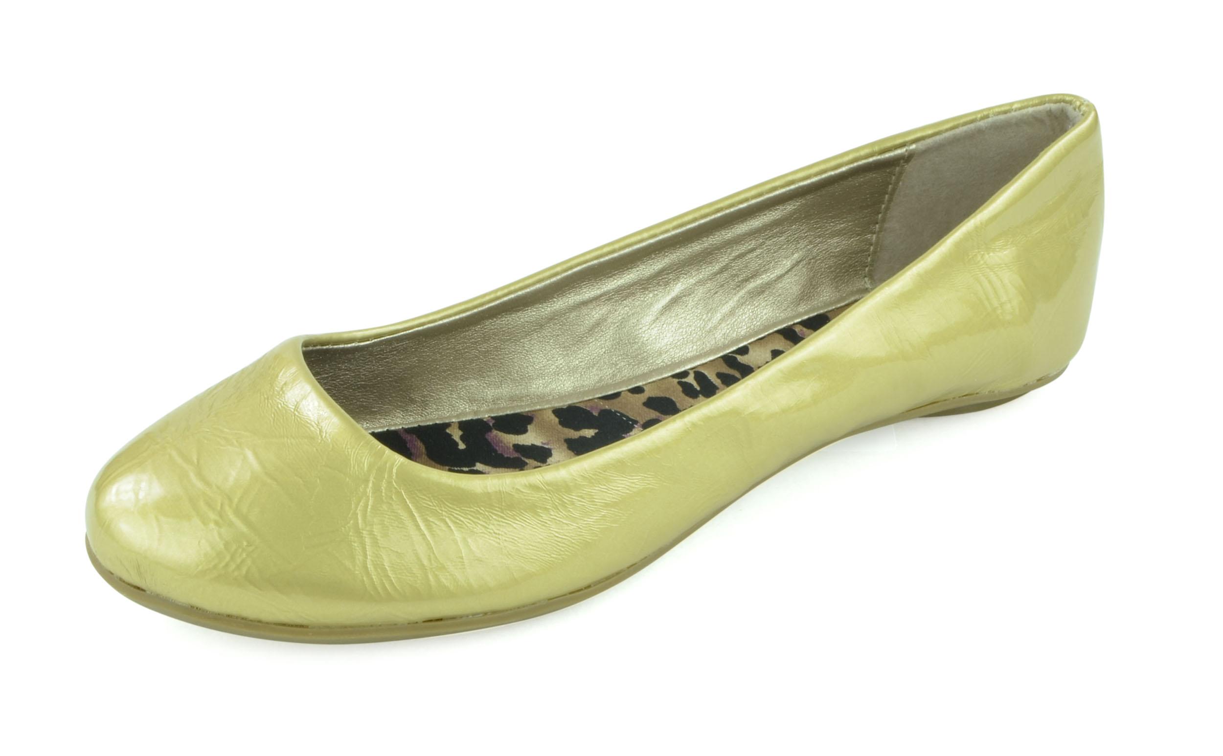 GIOVANI DONNE - Women's Palmer Ballerina Slip On Flat Shoes - Gold