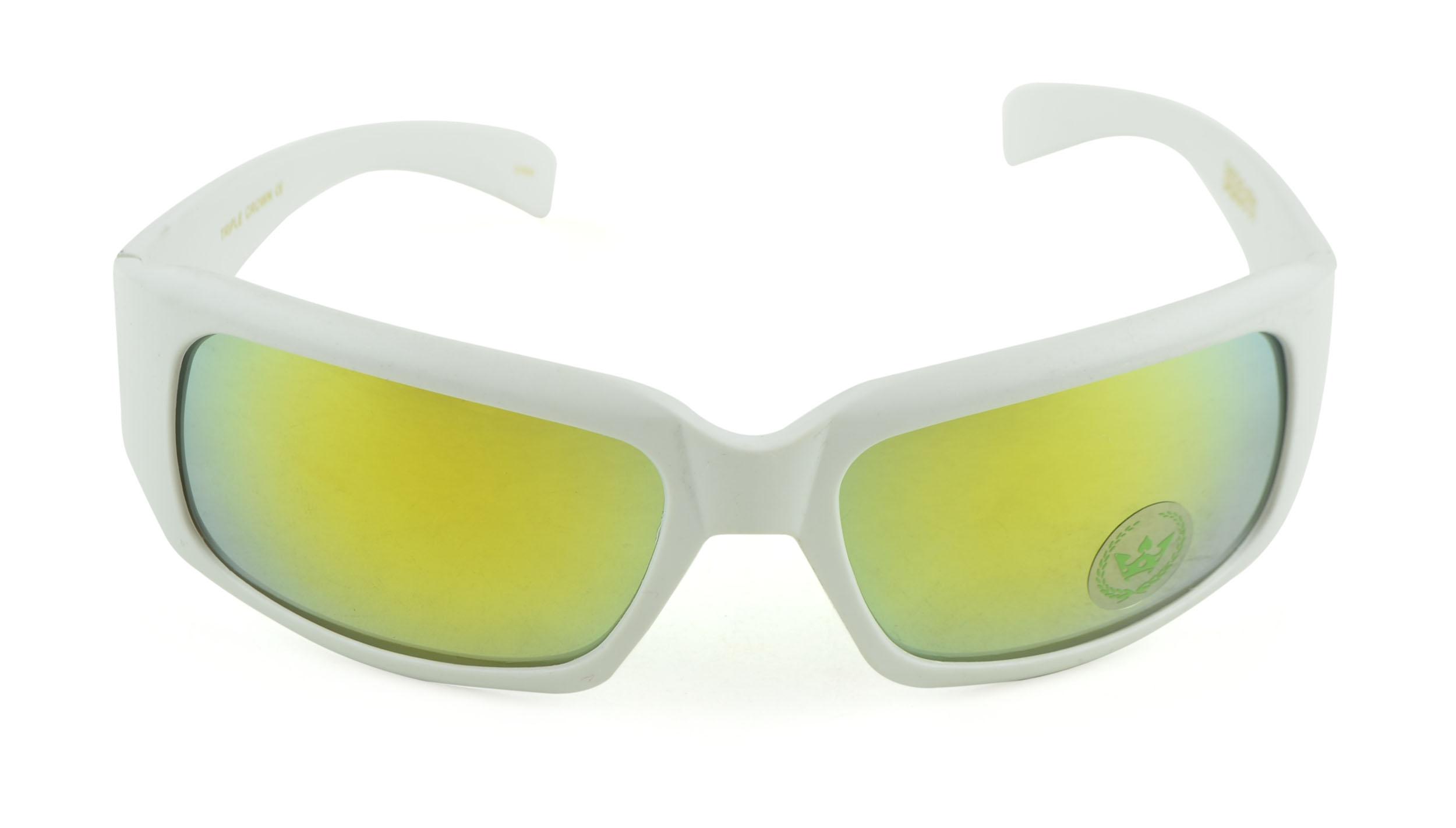 Belle Donne- Gangster Sunglass Hardcore Dark Lens Sunglasses Men Women - White