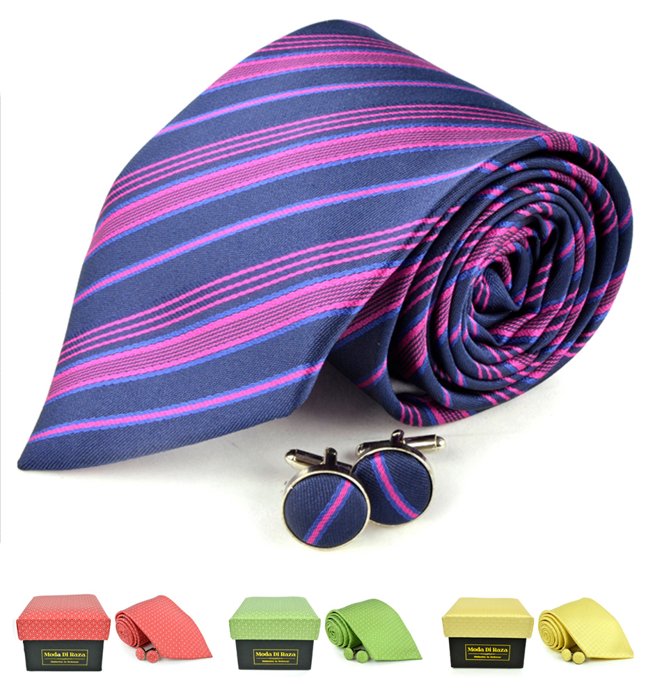 Moda Di Raza Men's NeckTies - 3 Inch Tie - Gift Box Sets