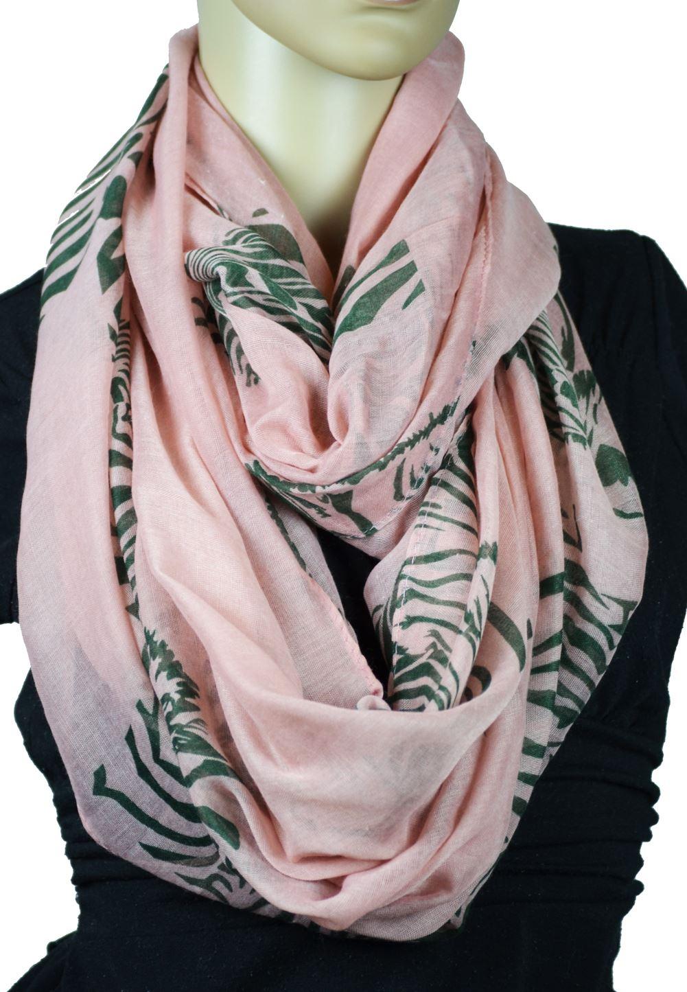 Belle Donne - Womens Mens Infinity Loop Scarves Beautiful Fashion Pattern Prints -