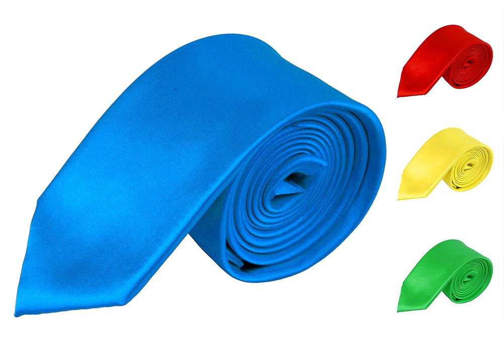 Men's / Boy's Slim Polyester Tie  - Neckwear - Skinny Tie by Moda Di Raza