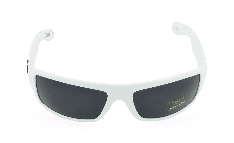 Belle Donne- Trendy Men or Women's Hardcore Dark Lens Sunglasses-White