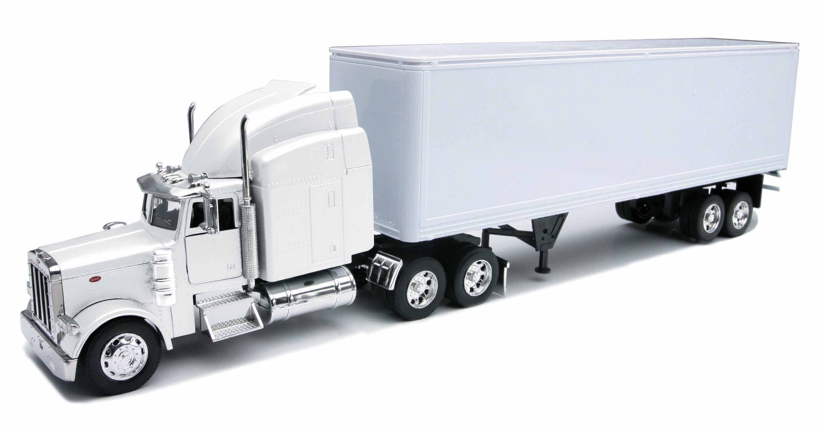 Peterbilt 379 With Dry Van - All-White Toy Truck