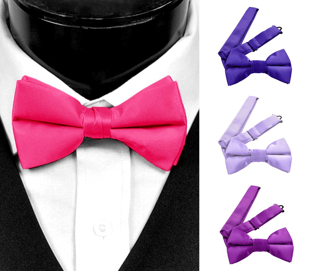 Moda Di Raza Men's Pre Tied Classic 2.5 Inch Bowties with Adjustable Strap