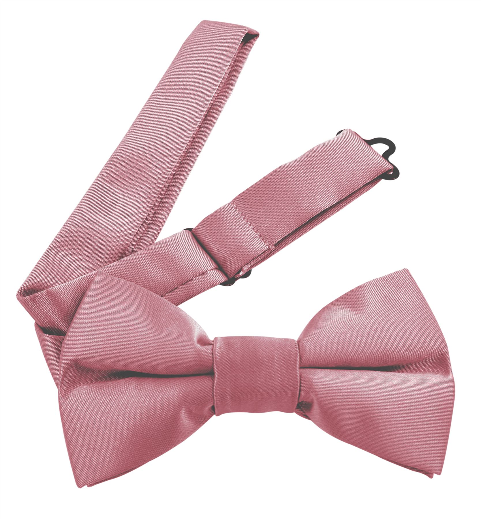 Moda Di Raza Men's Pre Tied Classic 2.5 Inch Bowties with Adjustable Strap - Dust Pink