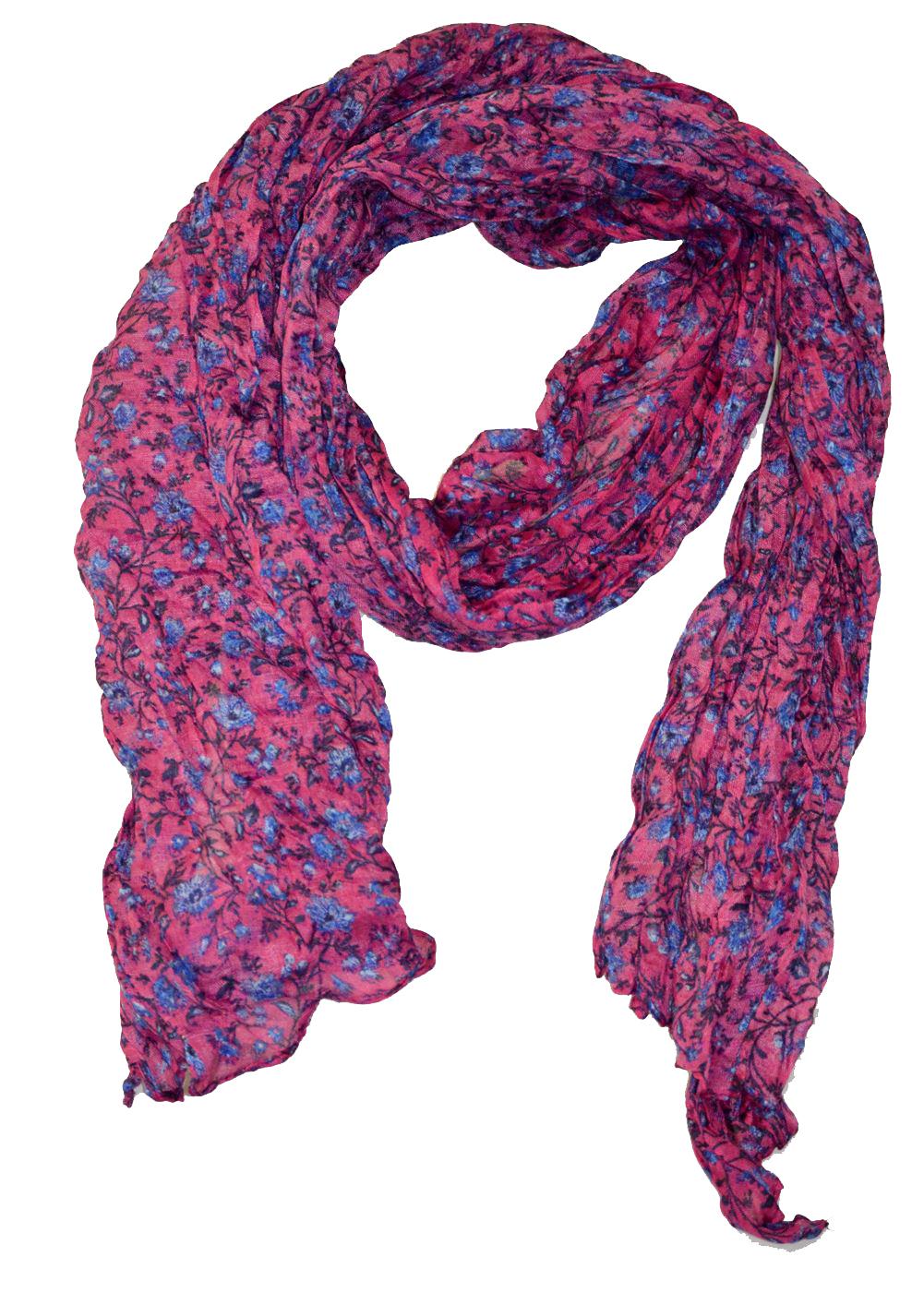 Belle Donne - women Scarf - Hot Pink Spring Sheer Floral Print Scarf