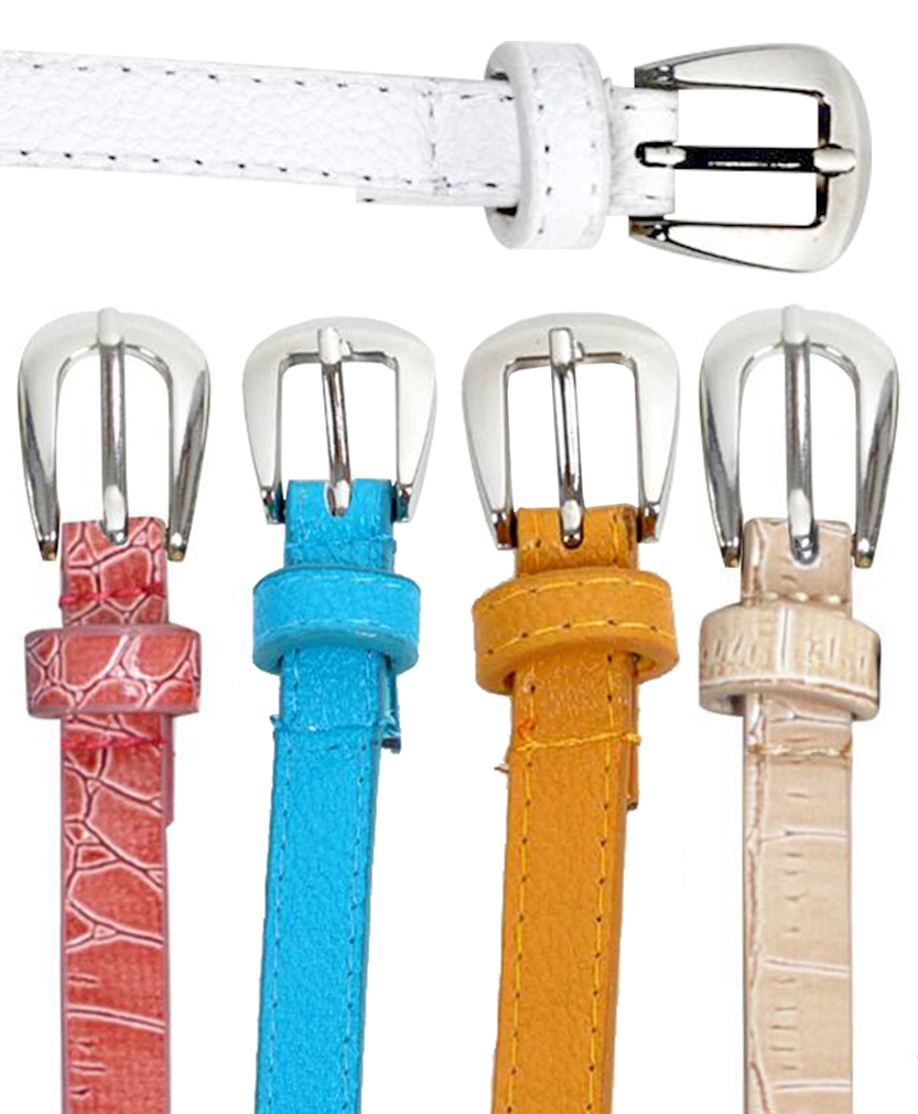 Earthy Lively Tone Women's Skinny Belts