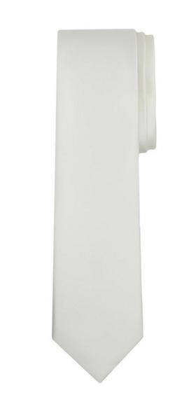 Jacob Alexander Solid Color Boy's Regular Tie - Ivory Cream