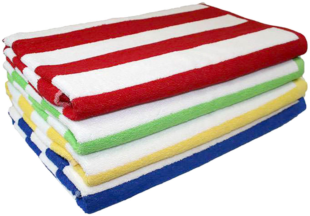 High Quality Cabana Striped Loop Terry Beach Towel