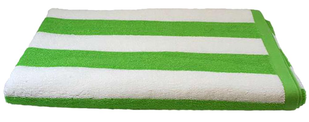 Cabana Striped Loop Terry Beach Pool Towel 100% Cotton Loop Terry Fabric  410 GSM 30