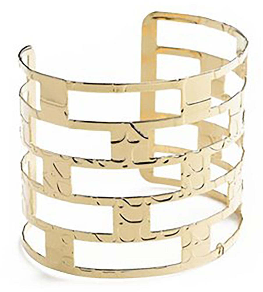 Belle Donne - Womens Multi Layer Silver Wide Cuff Bracelet, Large Wide Bracelet, Rectangular Pattern Style Bracelet for Women - Silver - MLayer