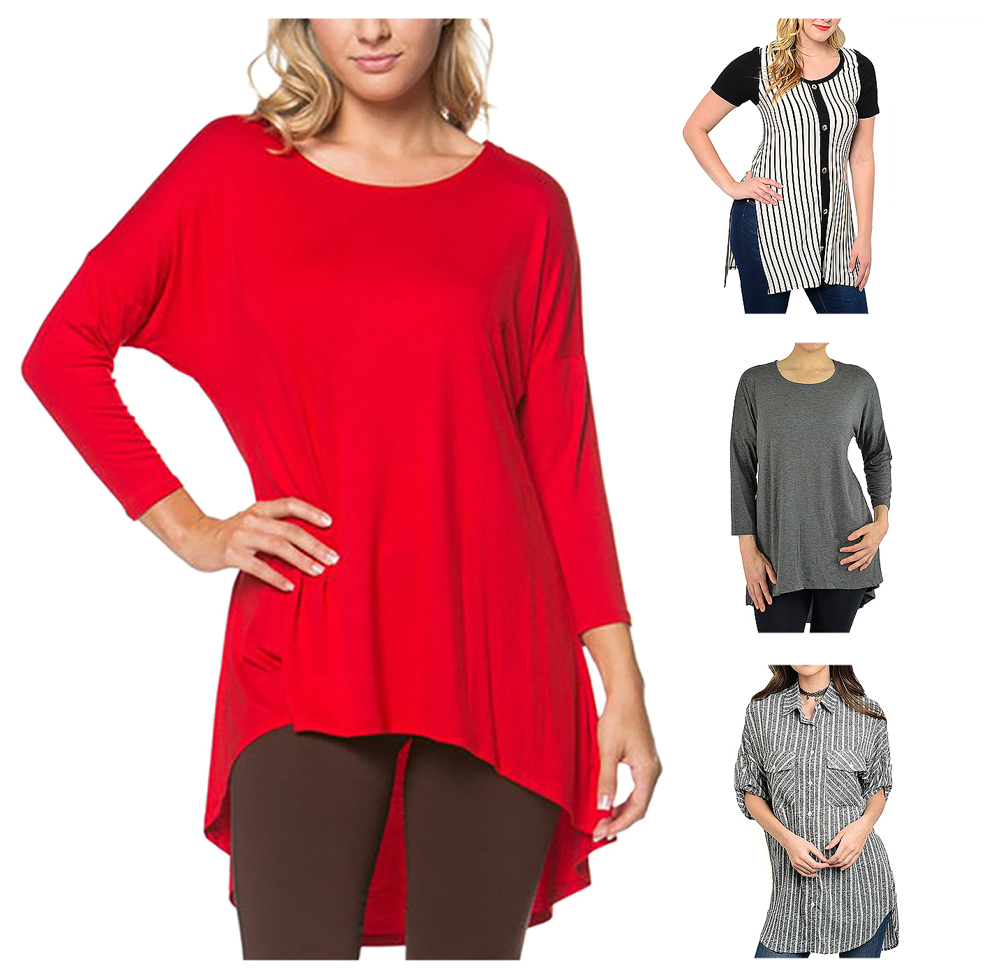 Belle Donne Women Plus Size Tunic Top Loose Jersey Style Casual Blouse