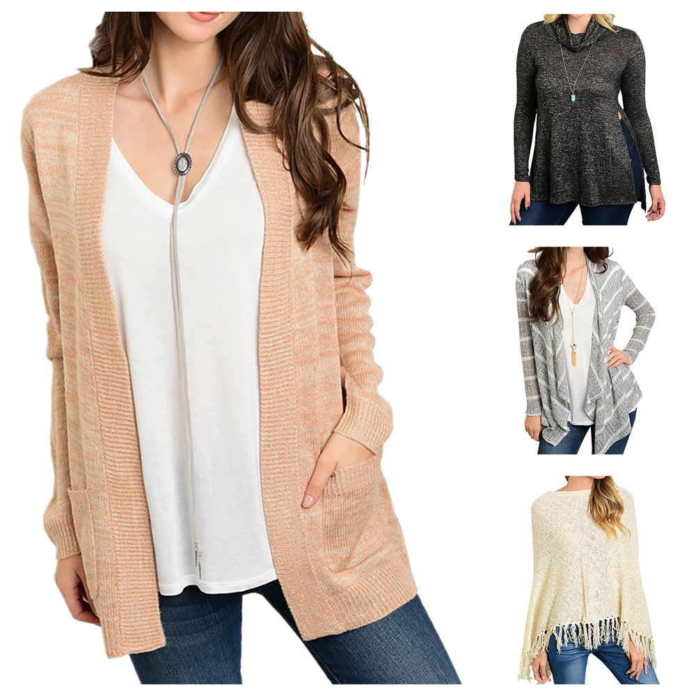Belle Donne Cardigan For Women Long Sleeve Knitted Sweater Winter Blouse Top