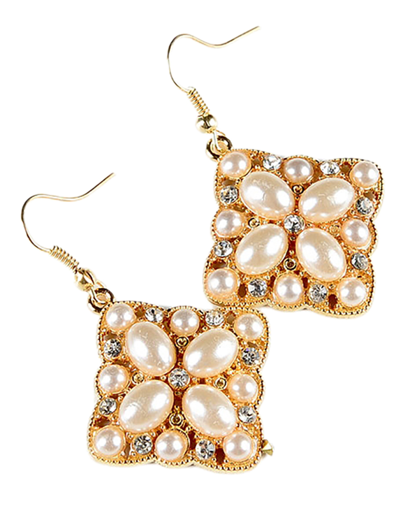 Belle Donne Earring Drop n Dangle For Girls / Women Ear Ring Jewelry Sets - Gold
