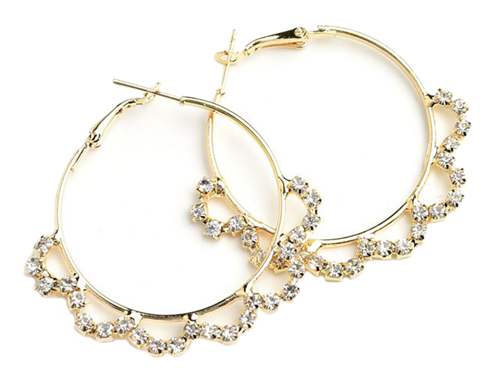 Multi Stone Hoop Earrings