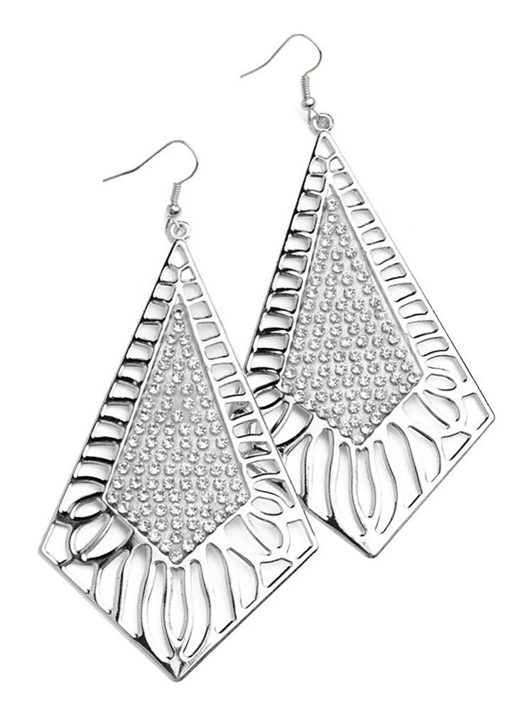 Belle Donne Earring Drop n Dangle For Girls / Women Ear Ring Jewelry Sets - Silver