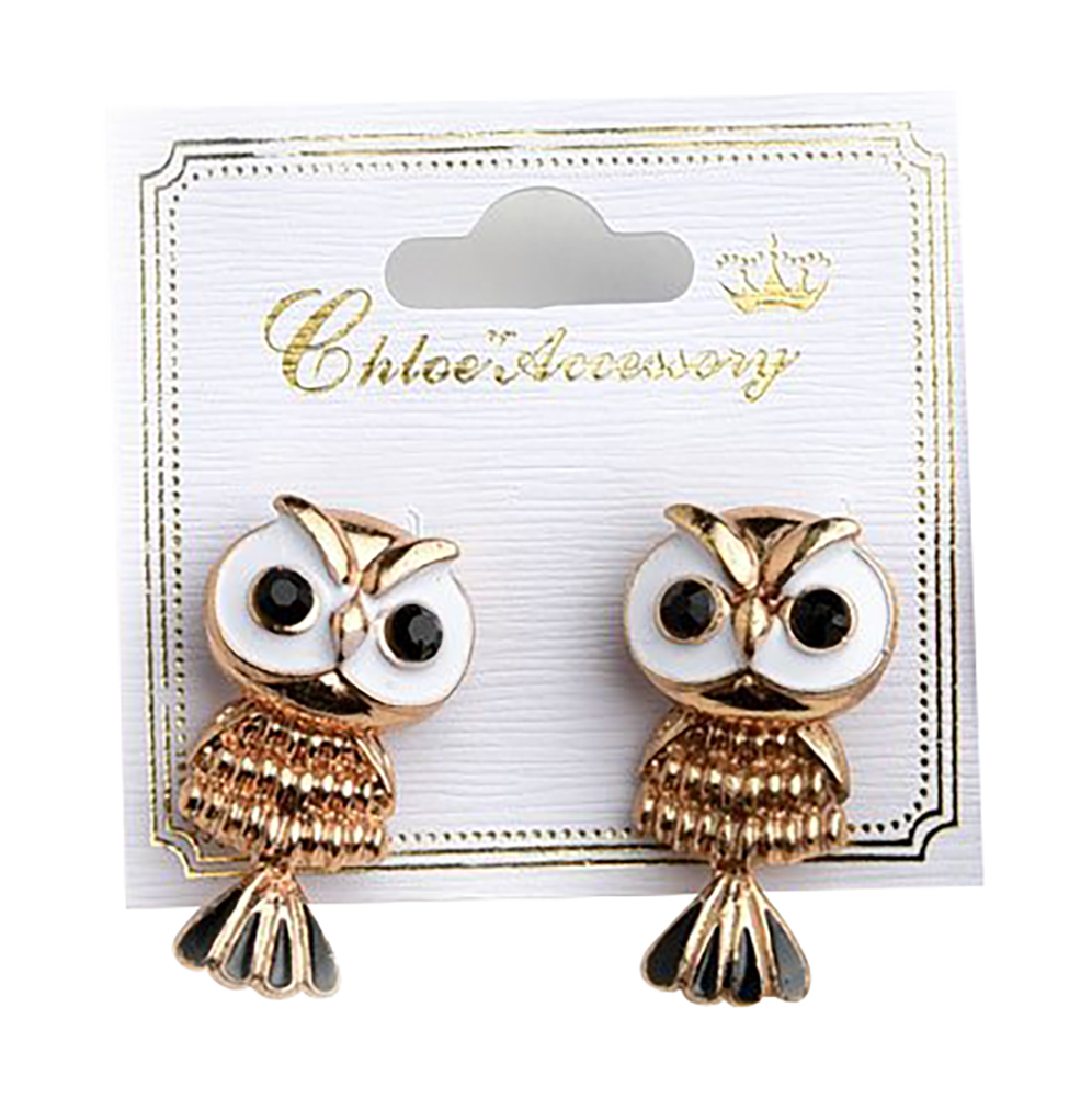 Belle Donne Earring Owl Shape  For Girls / Women Ear Ring Jewelry Sets - Gold