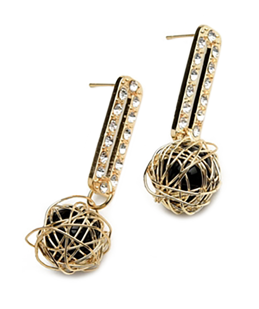 Belle Donne Earring Drop n Dangle For Girls / Women Ear Ring Jewelry Sets - Gold