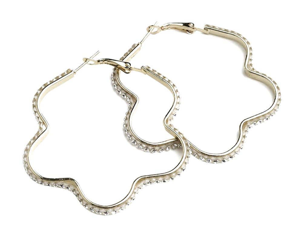 Multi Stone Layer Design Earrings