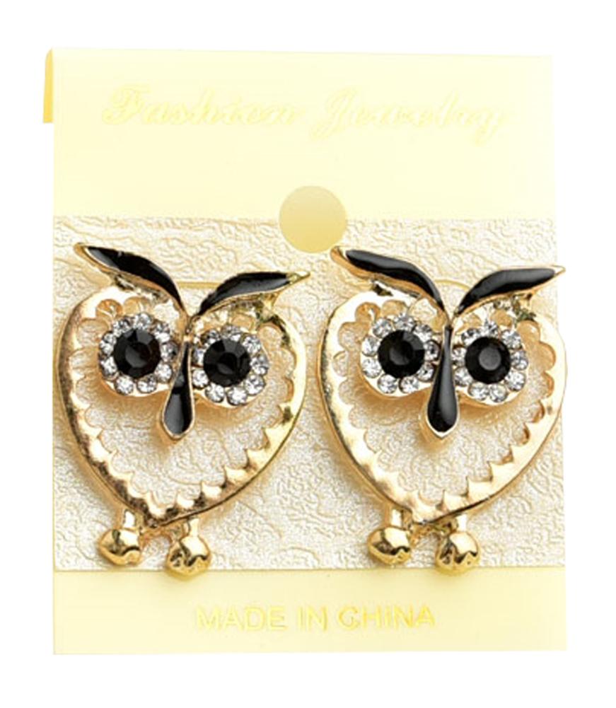 Belle Donne Earring Owl Shape  For Girls / Women Ear Ring Jewelry Sets - Gold