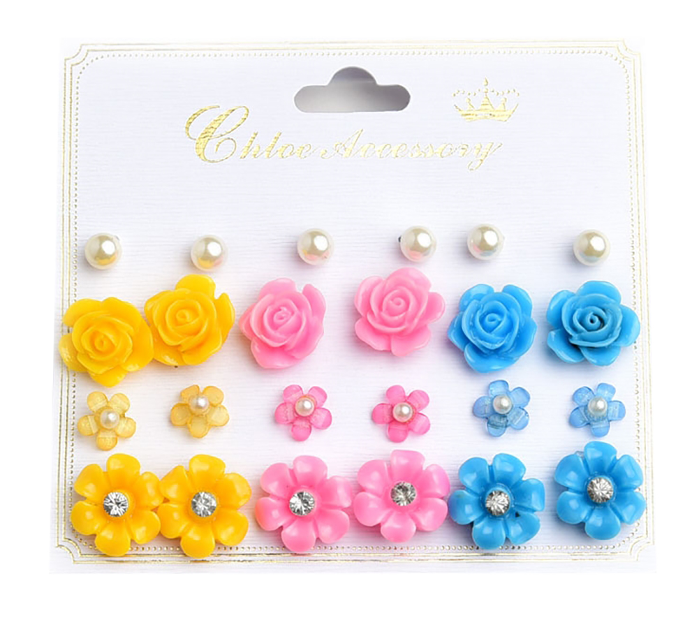 Belle Donne Earring Sets For Girls / Women - Jewelry Sets On Cards -