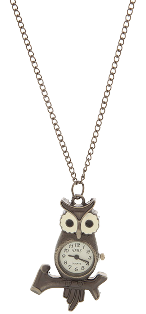 Belle Donne Necklace Owl Shape  For Girls / Women  Jewelry Sets - Bronze Finish