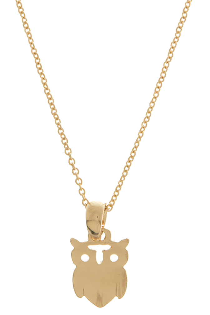Belle Donne Earring / Necklace Animal Shape  For Girls / Women Jewelry Animal - Gold-Owl8 One Size