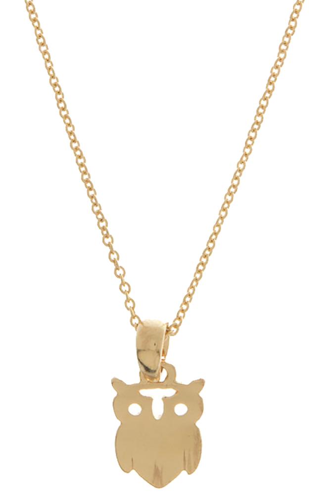 Belle Donne Owl Necklace Super Cute Cutout Owl Pendant Necklace 16 Inches Chain