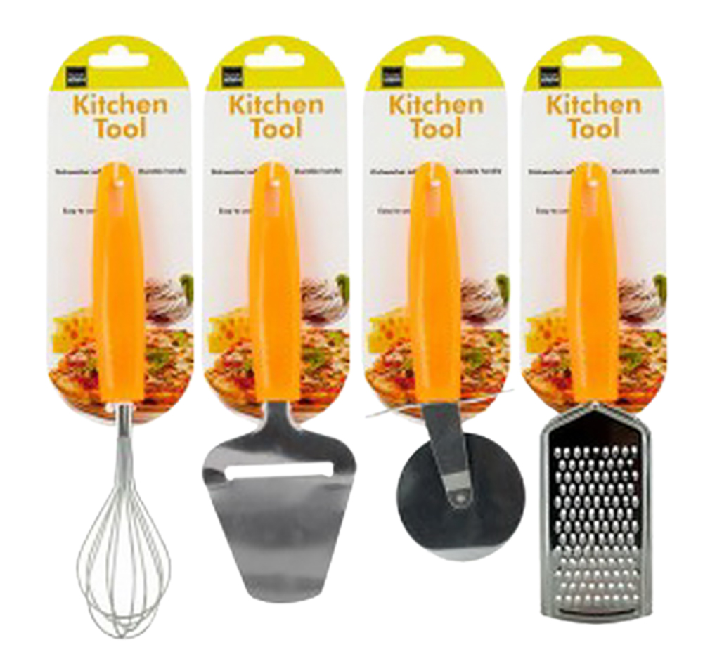 Kitchen Tool with Bright Orange Handle