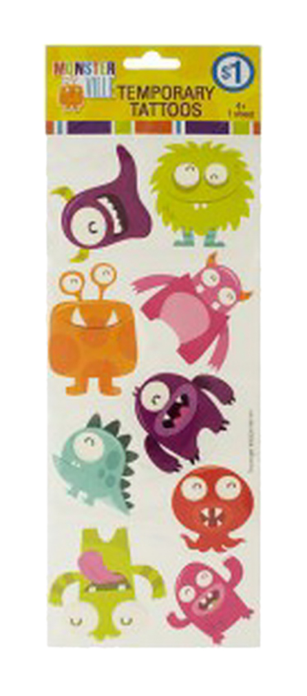 Monsterville Temporary Tattoos