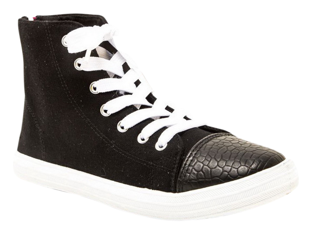 Lace Up High Top Sneaker Sporty Chic Style Casual Women Shoes