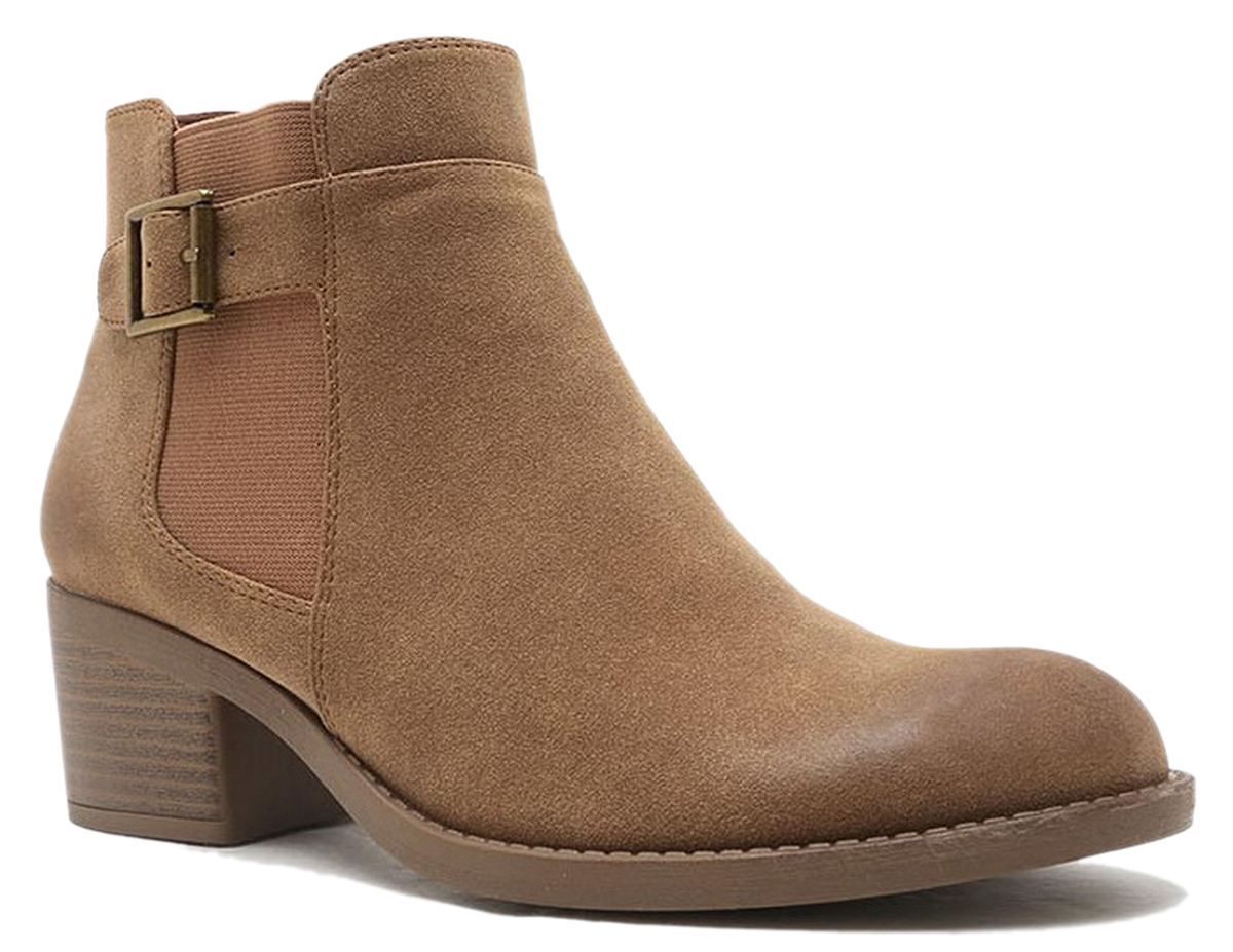 Women Cut Out Bootie Lace Up  Slip On High Heel Platform Wedge Ankle Bootie - Camel/6