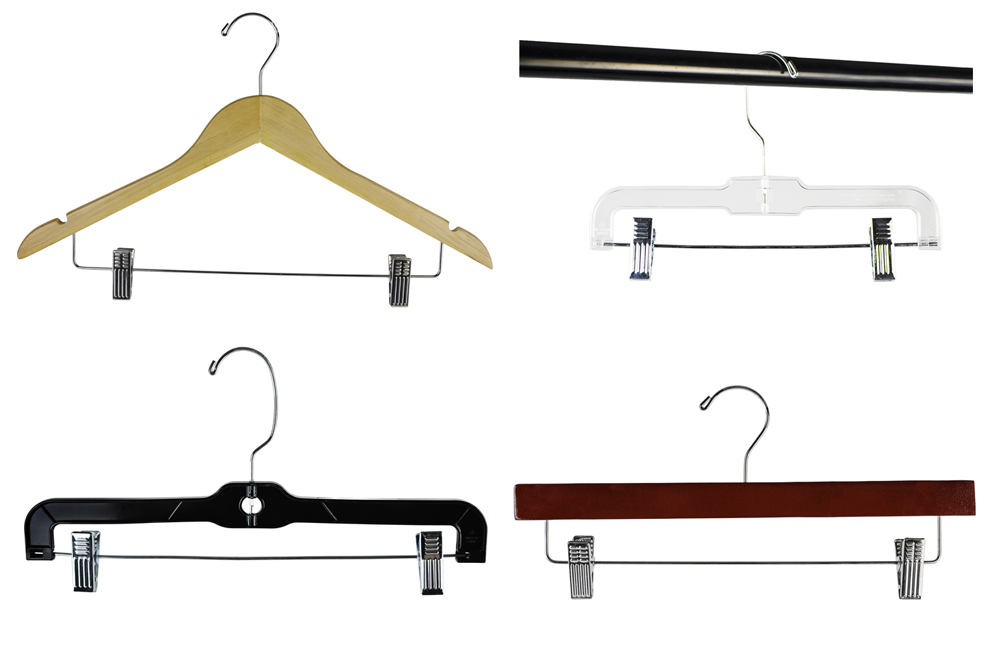 Shop72 - Pants Hanger Suit Hanger Skirt Or Slack Hanger Plasitc or Wood Hanger