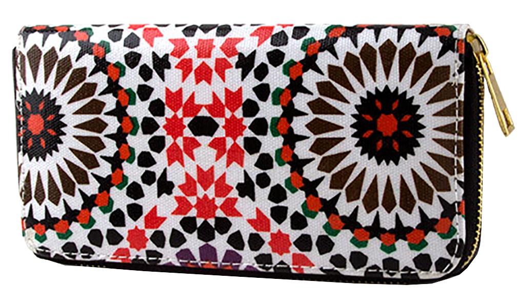 Belle Donne - Women Geometry Flower Motif Wallet