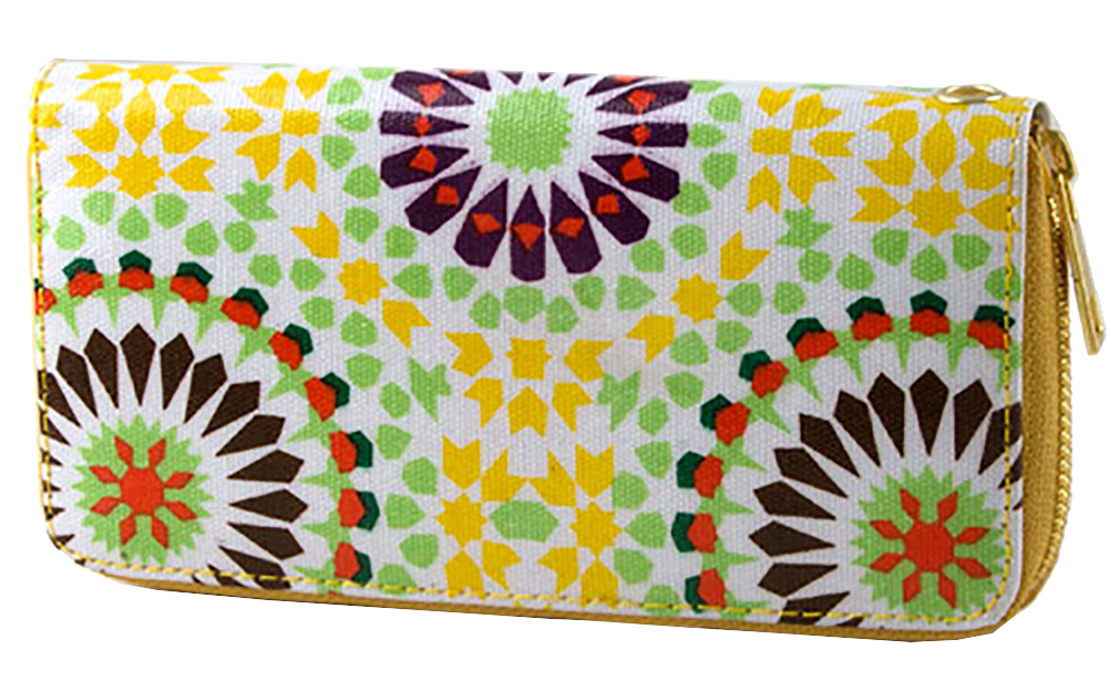 Belle Donne - Women Geometry Flower Motif Wallet