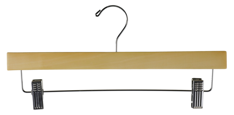 Shop72 - Clothing Wood Hanger 14 inch For Pants, Skirt or Slack Hanger - Natural