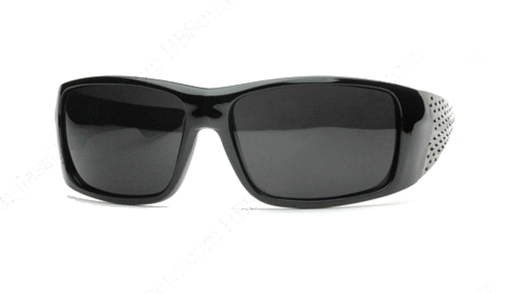 Black Harcore LOCS Sunglasses with Free Micro Fiber Bag in Black Gloss