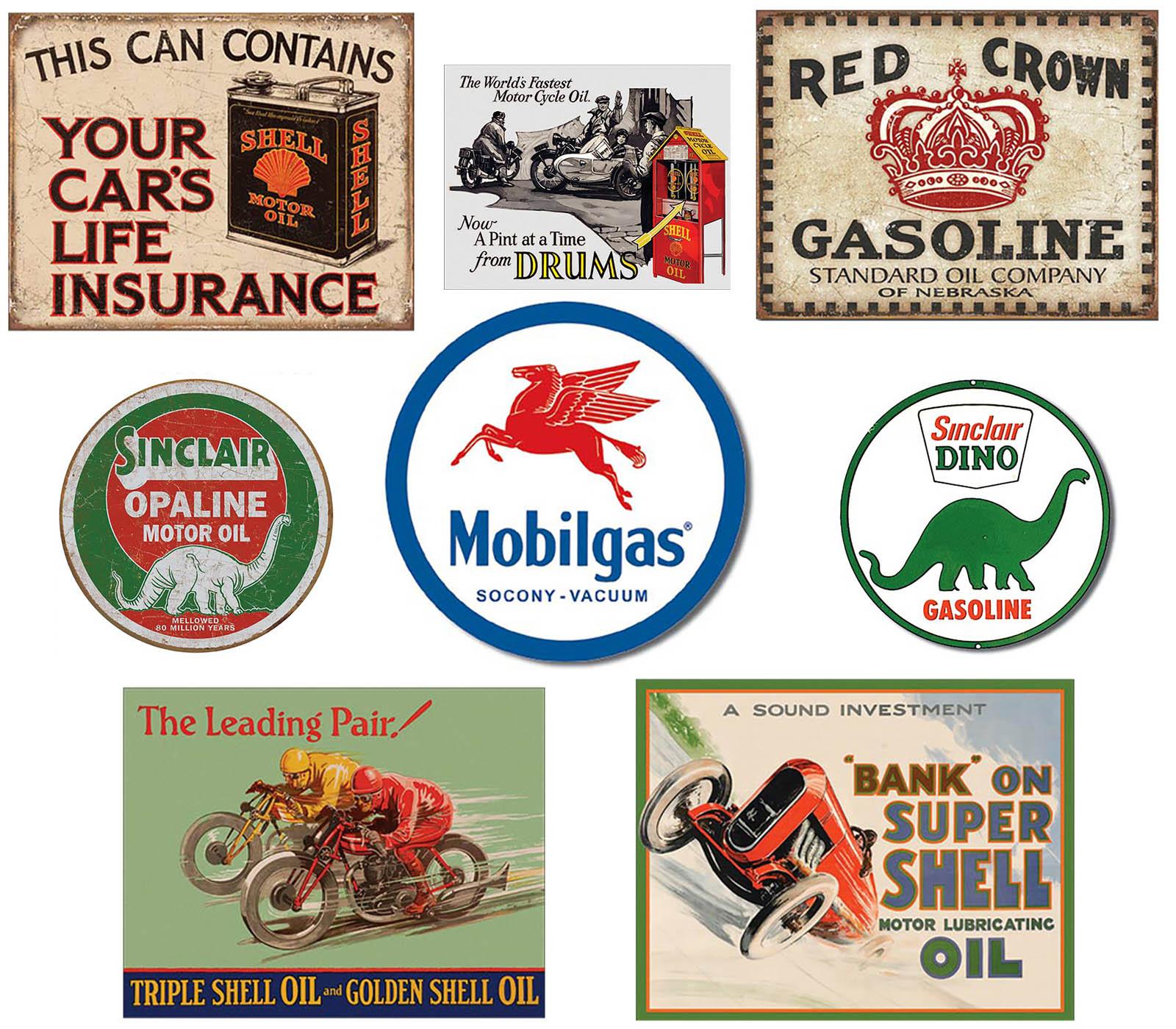 Shop72 - Tin Signs Retro Vintage Gas Tin sign n Oil Tin Sign Wall Decor Garage