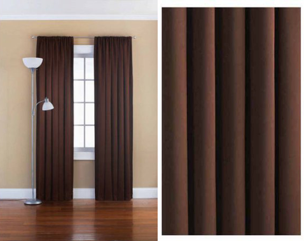 "Mainstays  Room Darkening Window Panel 54"" W x 84"" L Warm Chocoloate"