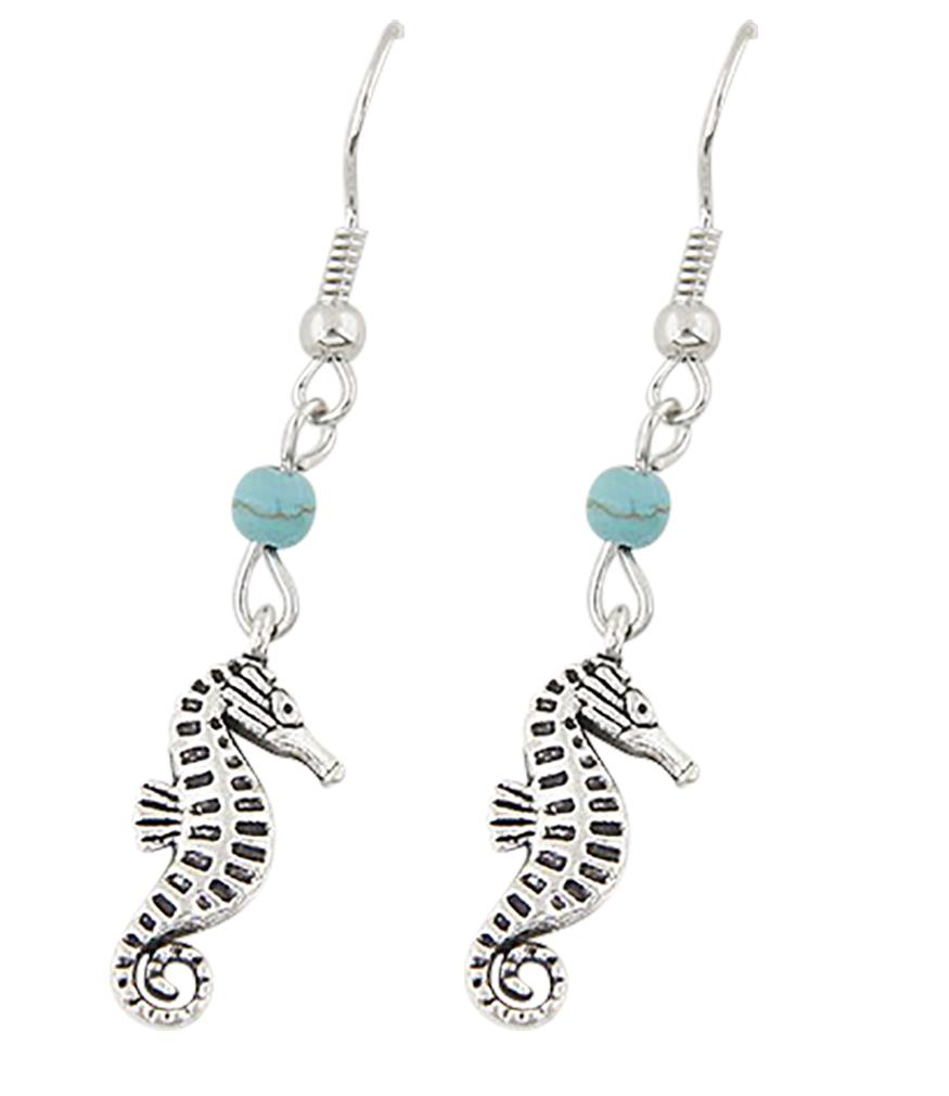 Belle Donne - Vintage Seahorse Pendant Fashion Earrings