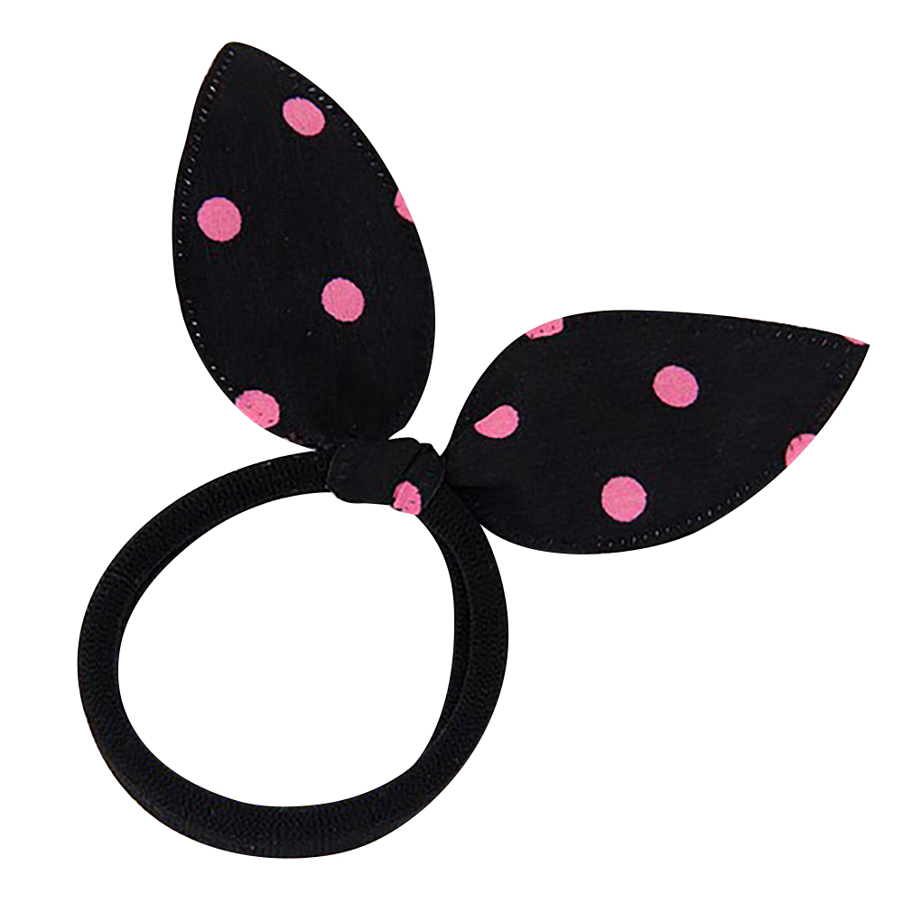 Belle Donne - Polka Dot Bunny Ears Hair Band - Kids Hair Bands, Toddler Hair Tie
