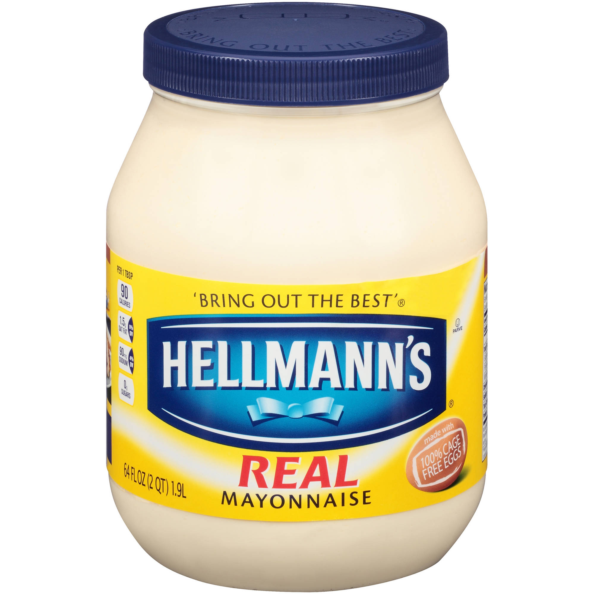Hellmann's Mayonnaise for Delicious Sandwiches Real Mayo Rich in Omega 3-ALA 64 oz
