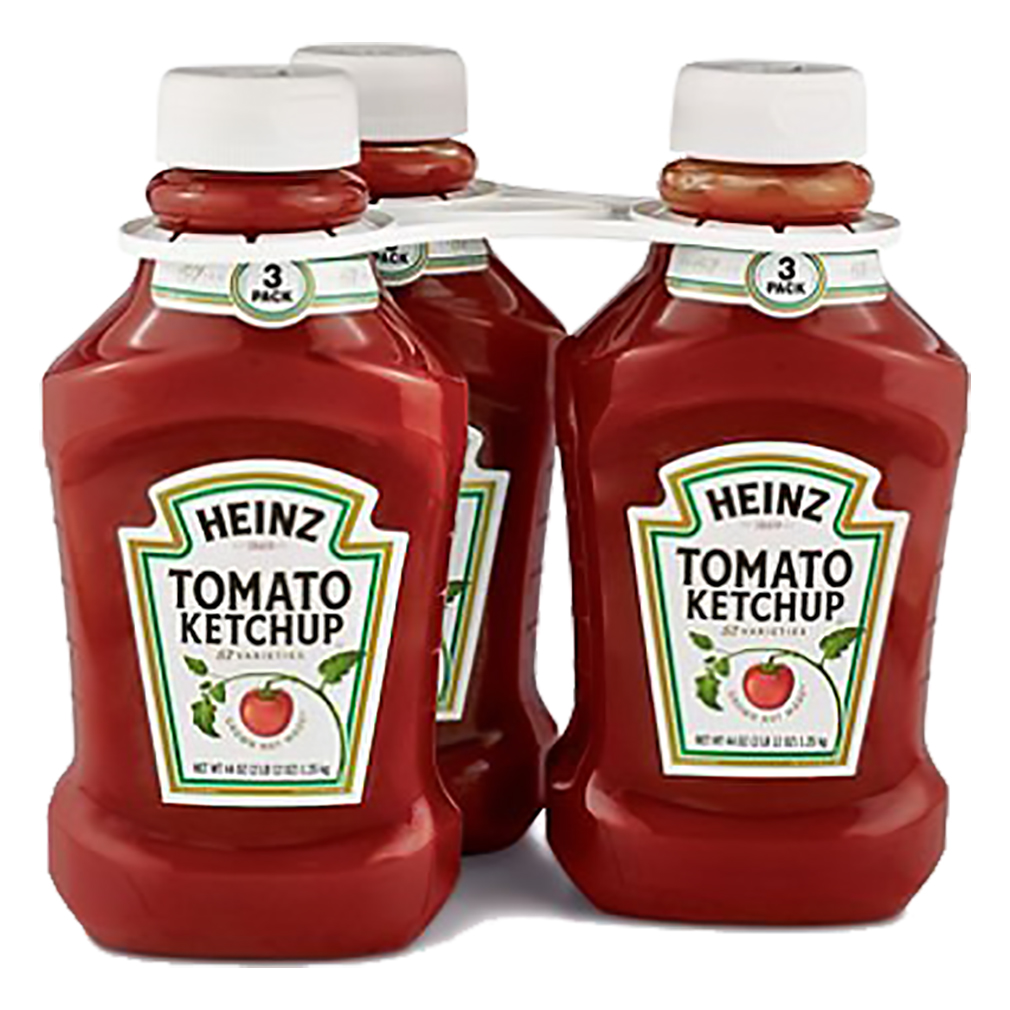 Heinz Triple Pack Simply Tomato Ketchup, 44 Oz x 3 Bottles