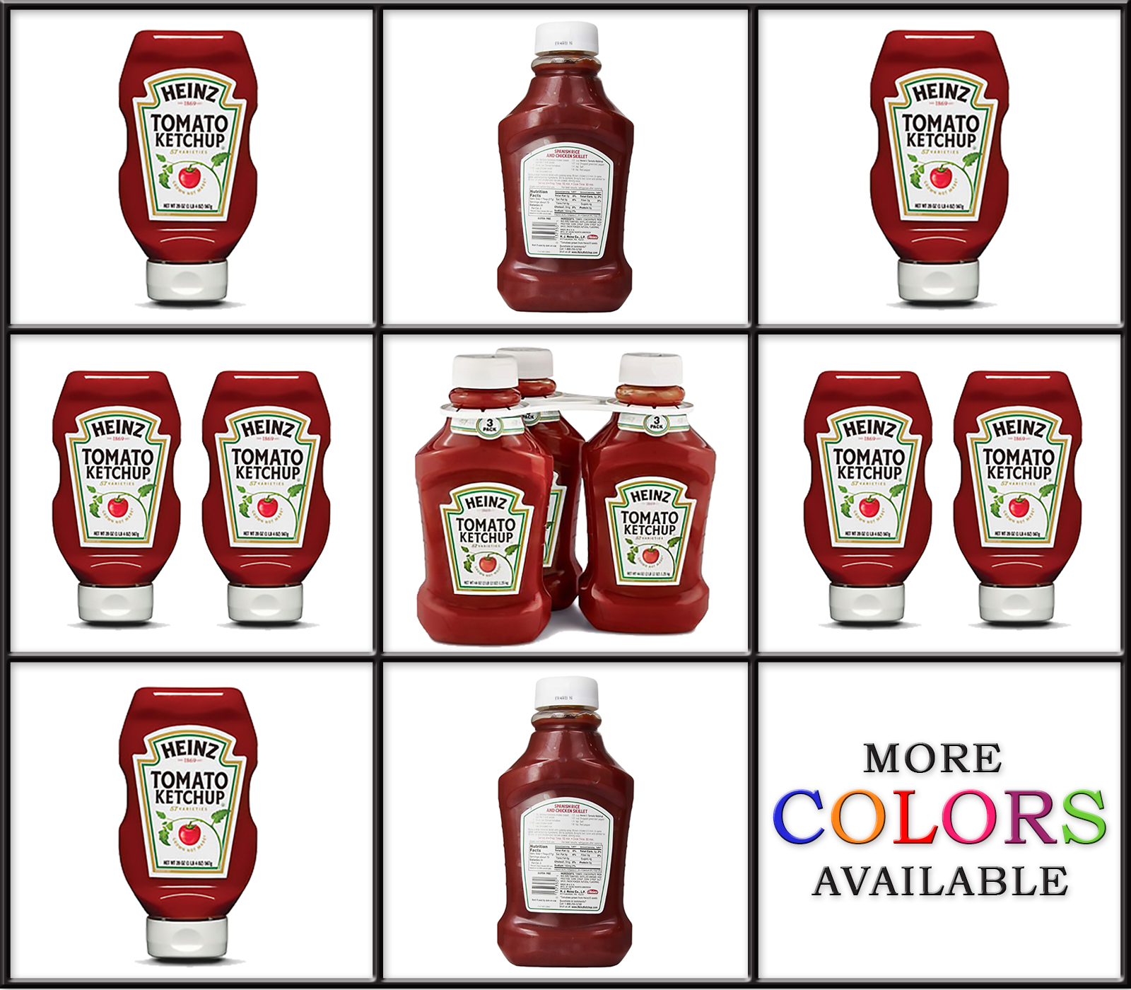 Heinz Tomato Ketchup 44 oz. bottle. Multiple Packs