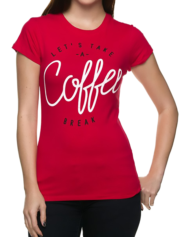 Belle Donne - Women's Graphic Tees Stylish Printed Short Sleeve Girl T Shirts - Red/Small