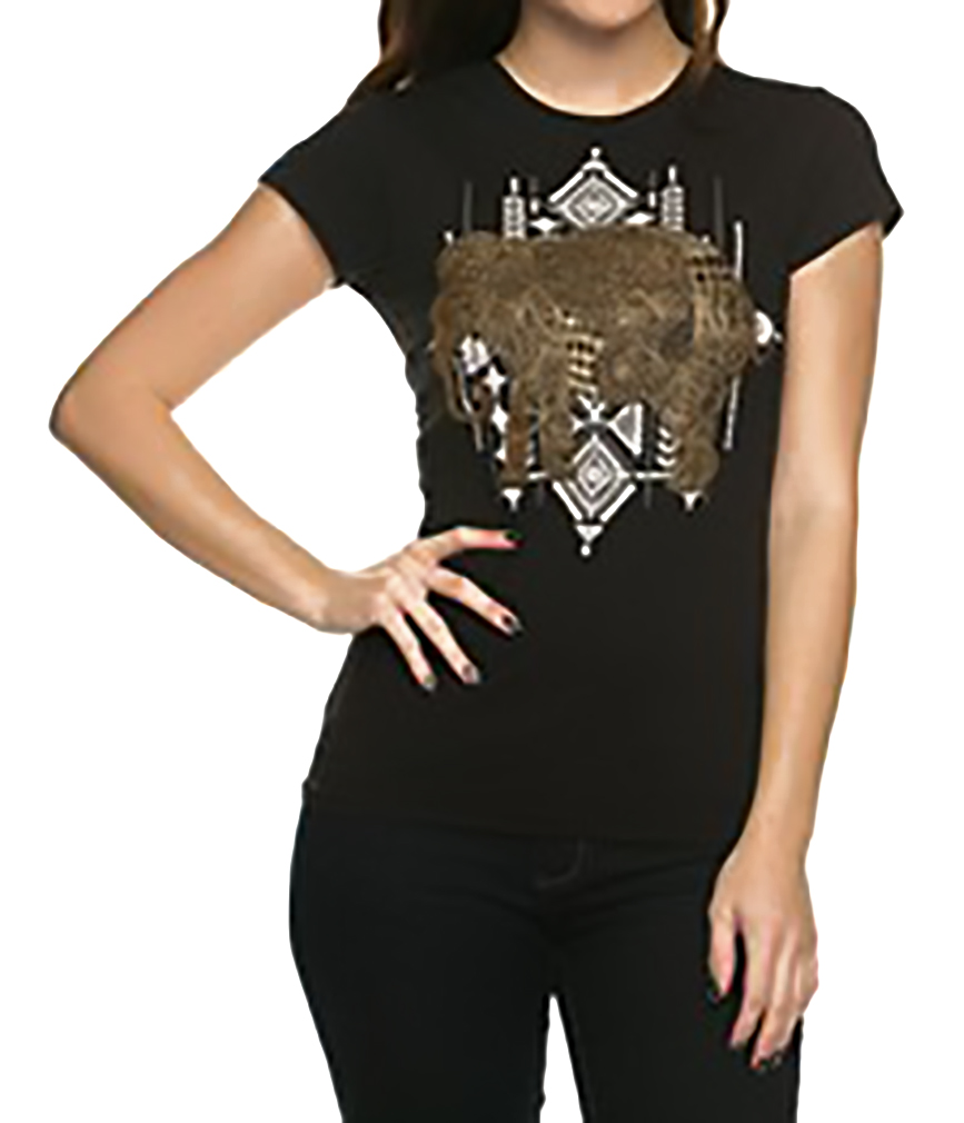Belle Donne - Women's Graphic Tees Stylish Printed Short Sleeve Girl T Shirts - Black/X-Large